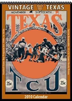 Texas Longhorns 2010 Vintage Football Program Calendar