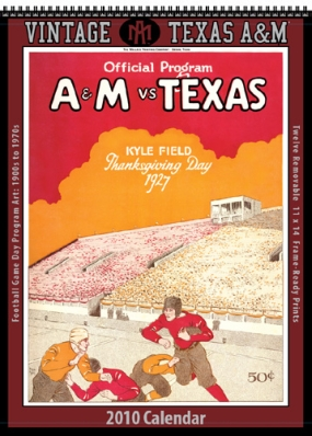 Texas A&M Aggies 2010 Vintage Football Program Calendar