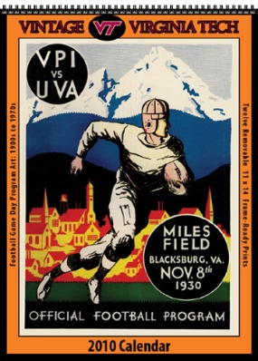 Virginia Tech Hokies 2010 Vintage Football Program Calendar