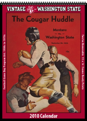 Washington State Cougars 2010 Vintage Football Program Calendar