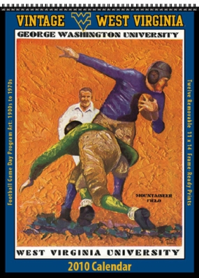 West Virginia Mountaineers 2010 Vintage Football Program Calendar