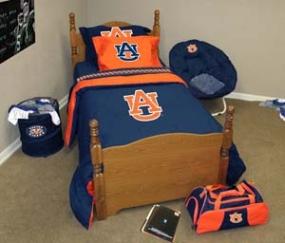 Auburn Tigers Twin Size Bedding In A Bag