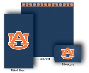 Auburn Tigers Full-Queen Size Sheet Set