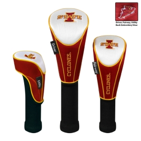 Iowa State Cyclones Set of 3 Golf Club Headcovers