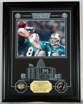 Dan Marino HOF Archival Etched Glass Photomint