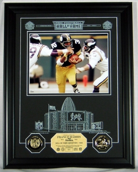 Franco Harris HOF Archival Etched Glass Photomint