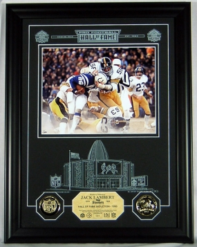 Jack Lambert HOF Archival Etched Glass Photomint
