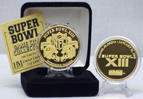 24kt Gold Super Bowl XIII flip coin