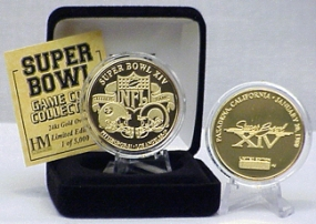 24kt Gold Super Bowl XIV flip coin