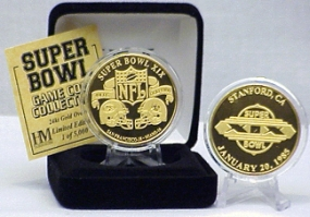 24kt Gold Super Bowl XIX flip coin