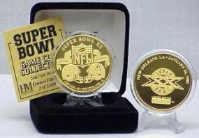 24kt Gold Super Bowl XX flip coin