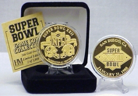 24kt Gold Super Bowl XXII flip coin