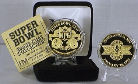 24kt Gold Super Bowl XXVI flip coin