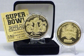 24kt Gold Super Bowl XXVII flip coin