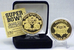 24kt Gold Super Bowl XXIX flip coin