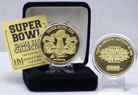 24kt Gold Super Bowl XXX flip coin