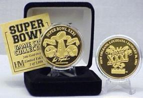 24kt Gold Super Bowl XXXI flip coin