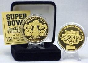 24kt Gold Super Bowl XXXIV flip coin
