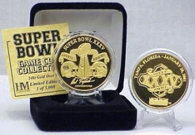 24kt Gold Super Bowl XXXV flip coin