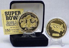 24kt Gold Super Bowl XXXVI flip coin