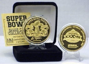 24kt Gold Super Bowl XXXVII flip coin