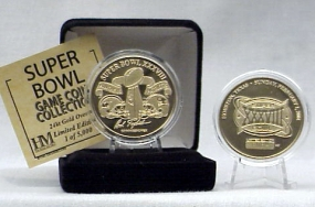 24kt Gold Super Bowl XXXVIII flip coin