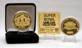 24kt Gold Super Bowl XXXIX flip coin