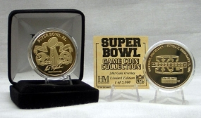 24kt Gold Super Bowl XL flip coin