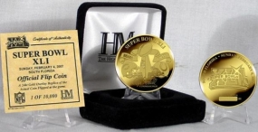 24kt Gold Super Bowl XLI flip coin