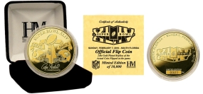 Super Bowl XLIV 24KT Gold Flip Coin