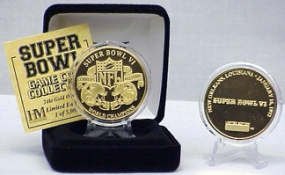 24kt Gold Super Bowl VI flip coin