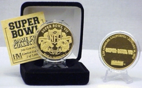 24kt Gold Super Bowl VII flip coin