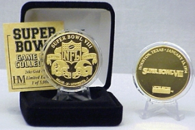24kt Gold Super Bowl VIII flip coin