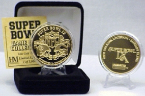24kt Gold Super Bowl IX flip coin