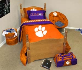 Clemson Tigers Queen Size Bedding In A Bag