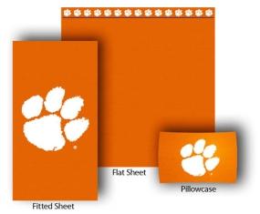 Clemson Tigers Full-Queen Size Sheet Set