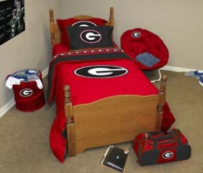 Georgia Bulldogs Queen Size Bedding In A Bag