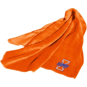 Illinois Fighting Illini Fleece Throw Blanket