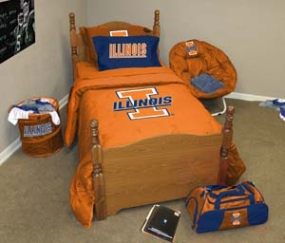 Illinois Fighting Illini Queen Size Bedding In A Bag