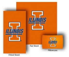 Illinois Fighting Illini Full-Queen Size Sheet Set