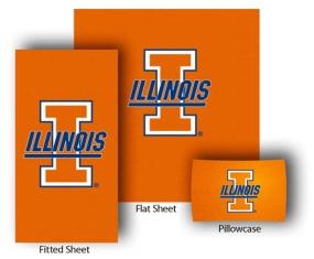 Illinois Fighting Illini Twin Size Sheet Set