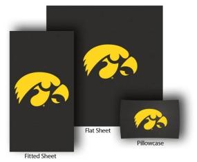 Iowa Hawkeyes Full-Queen Size Sheet Set