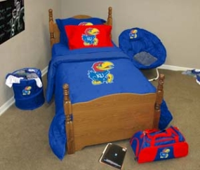 Kansas Jayhawks Twin Size Bedding In A Bag