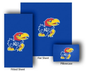 Kansas Jayhawks Twin Size Sheet Set