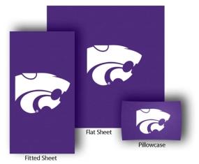 Kansas State Wildcats Full-Queen Size Sheet Set
