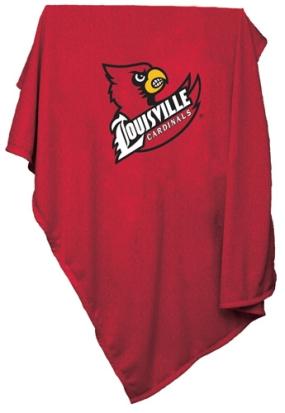 Louisville Cardinals Sweatshirt Blanket