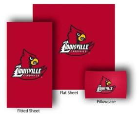 Louisville Cardinals Full-Queen Size Sheet Set