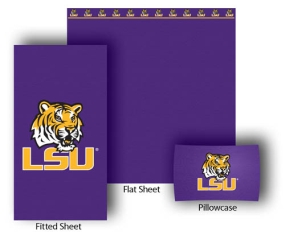 LSU Tigers Full-Queen Size Sheet Set