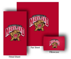 Maryland Terrapins Twin Size Sheet Set