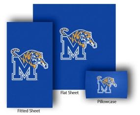 Memphis Tigers Twin Size Sheet Set